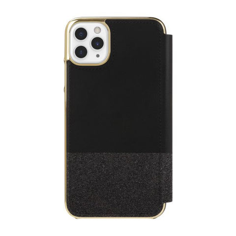 "KATE SPADE NEW YORK Inlay Folio Wallet Case For iPhone 11 Pro Max (6.5"") - Black Munera"