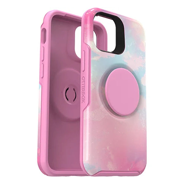 rainbow colorfull case with combination of popsocket from otterbox for your new iphone 12 mini. a great case for girls, kids and young energetic woman. Grab this case online with free shipping