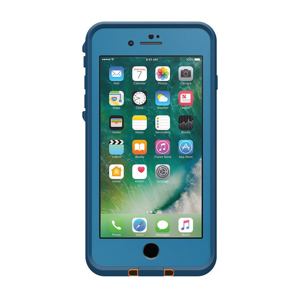 iPhone 7+ Plus Lifeproof Fre Built-in Scratch Protector Waterproof Blue Case Australia Australia Stock