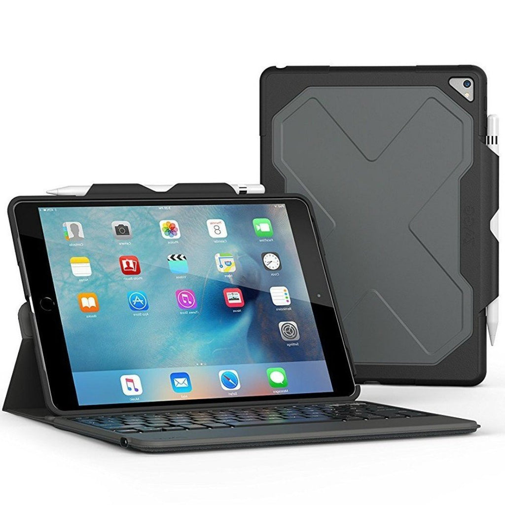 Zagg Rugged Messenger Folio Backlit Keyboard Case For Ipad