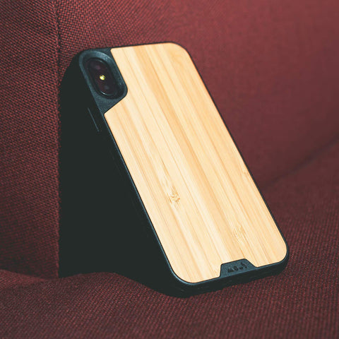 Natural Wooden Bamboo style case from Mous Australia for iPhone XS Max