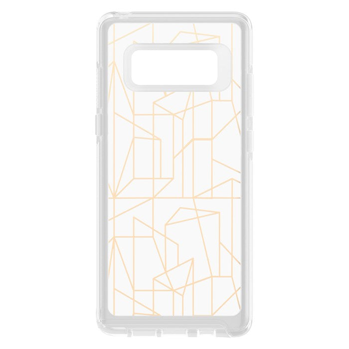OTTERBOX SYMMETRY CLEAR GRAPHICS SLIM CASE FOR GALAXY NOTE 8 - DROP ME A LINE Australia Stock