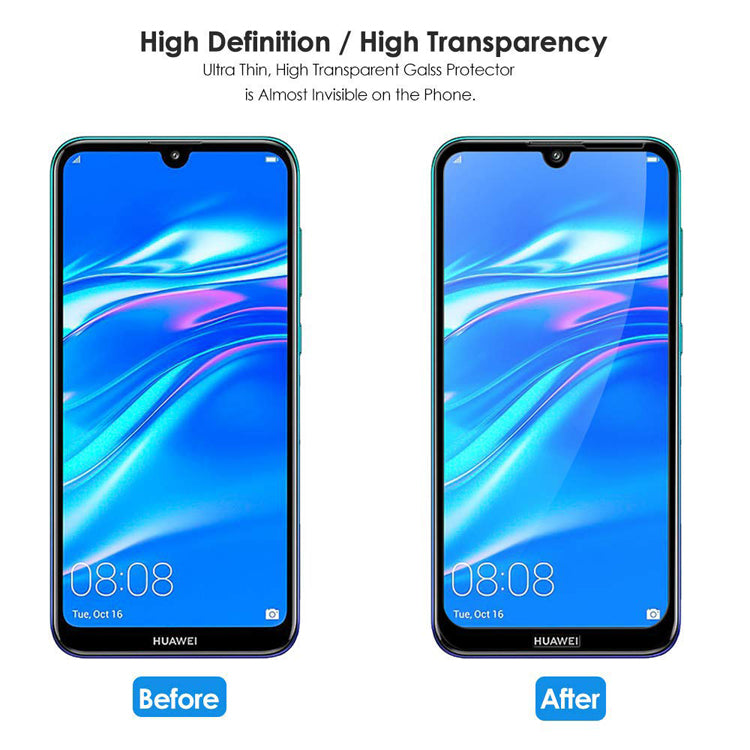 buy online huawei y7 pro 2019 screen protector tempered glass Australia Stock