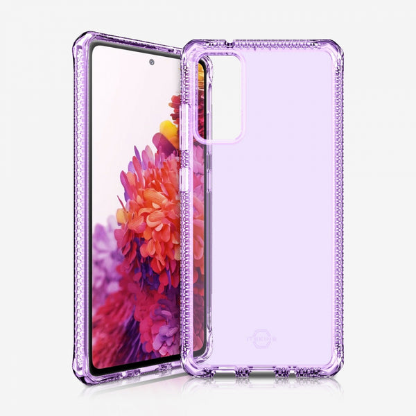 Best rugged clear slim case with light purple color for your galaxy s20 (fe) 5g, shop online at syntricate and enjoy afterpay payment with interest free.