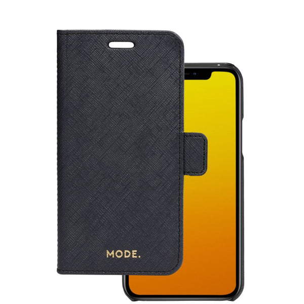 iphone 11 pro leather folio case. black colour.
