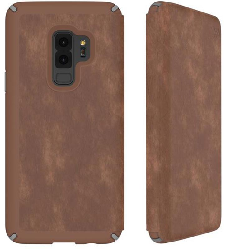 brand new f3f93 1ecbf SPECK PRESIDIO IMPACTIUM LEATHER FOLIO CASE FOR GALAXY S9+ PLUS- SADDLE  BROWN