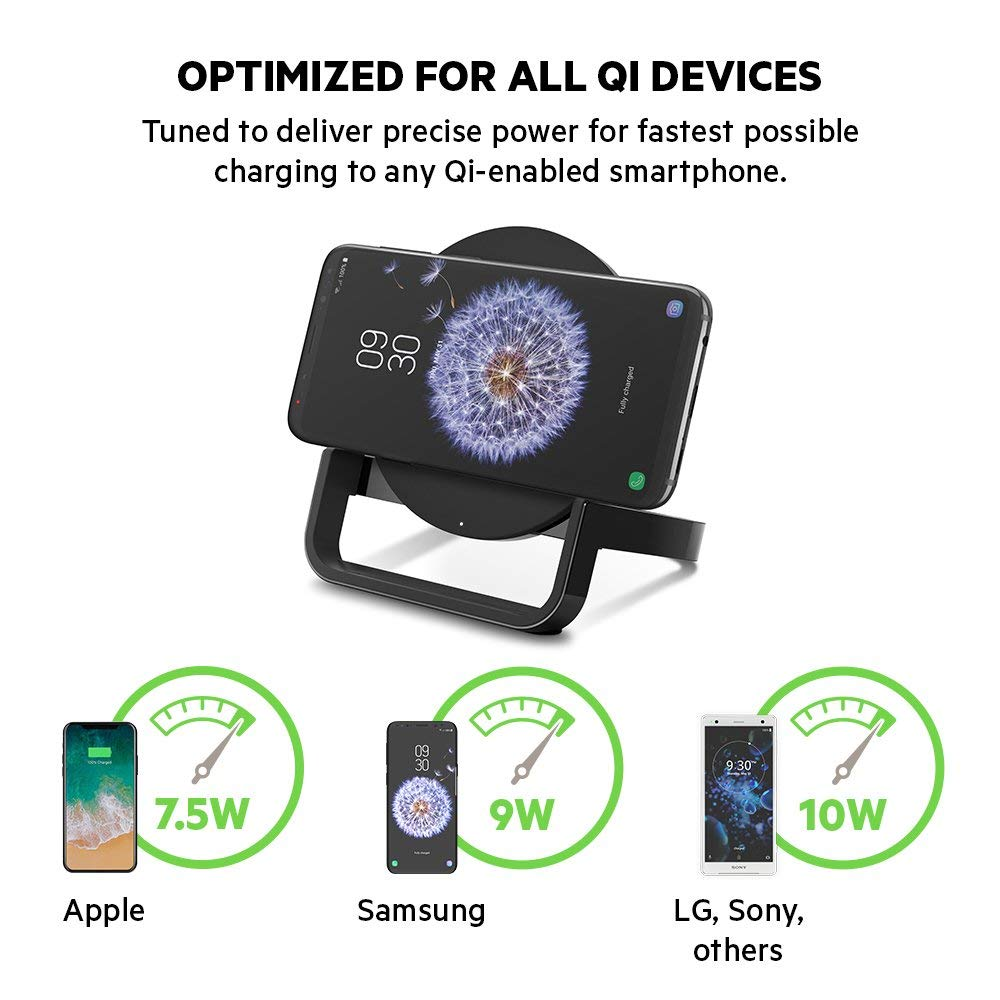 BELKIN QI BOOST UP WIRELESS 10W CHARGING STAND FOR IPHONE/SAMSUNG/LG/SONY - BLACK Australia Stock