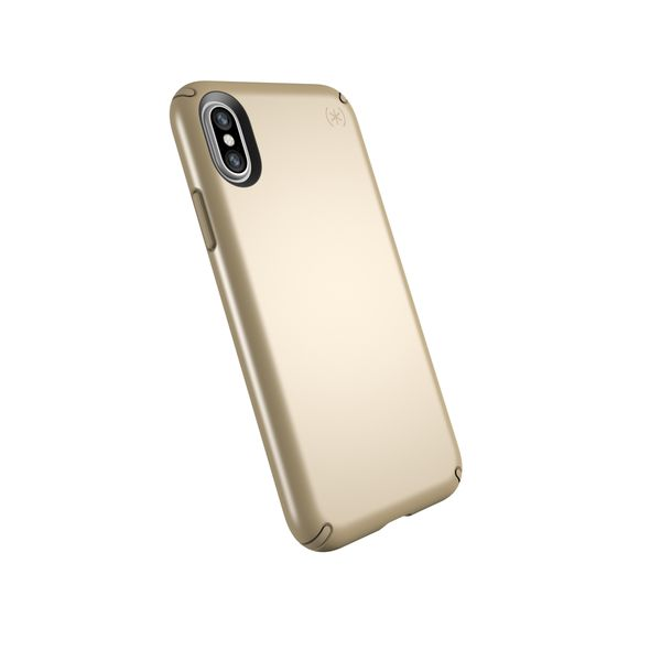 grab it at syntricate speck presidio metallic case for iphone x - pale yellow gold/camel brown Australia Stock