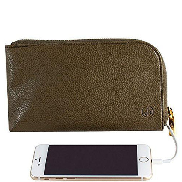 Shop Australia stock Chic Buds Clutchette Power Portable Charger Charging Purse for Universal - Olive with free shipping online. Shop Chic Buds collections with afterpay Australia Stock