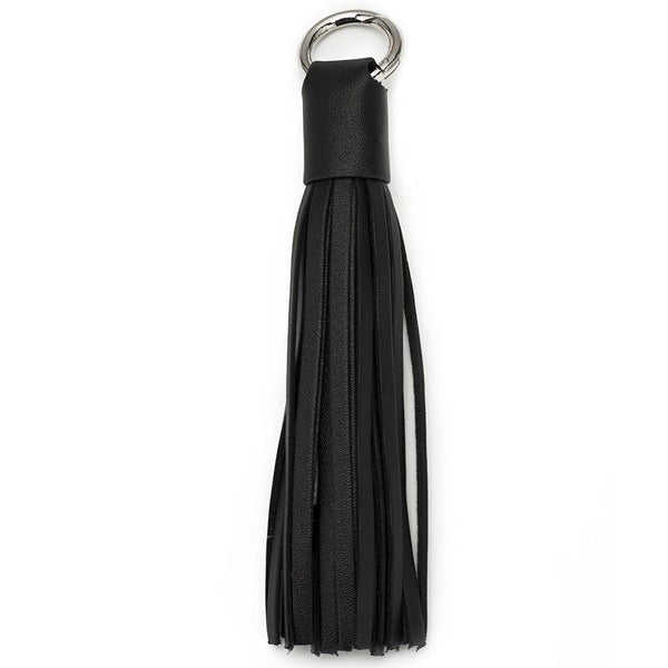 buy genuine cheap Chic Buds Tassel Keyring Charm Cable with Micro USB - Black australia