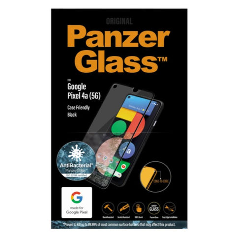 original panzerglass screen protector for google pixel 4a 5g with anti bacteria technology