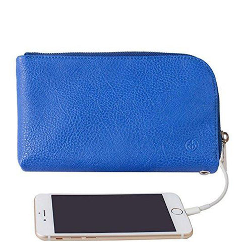 Chic Buds Clutchette Power Portable Charger Charging Purse for Universal - Cobalt