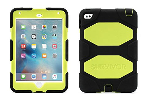 Griffin Survivor All-Terrain Case for iPad mini 4 - Black/Citron