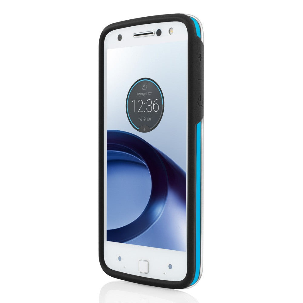Incipio Performance Rugged Case for Motorola Moto Z - Black/Cyan Australia Stock