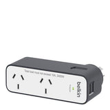 Belkin Domestic Travel Surge With 2 Usb Ports Australia