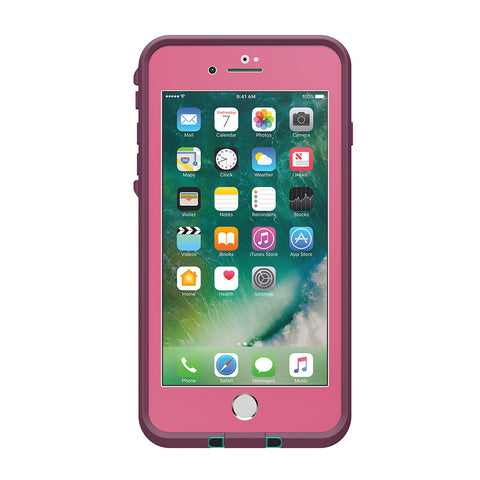 Lifeproof Fre Built-in Scratch Protector Waterproof Case for iPhone 7 Plus- Purple /Pink