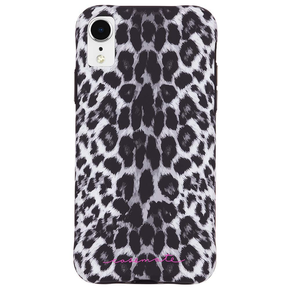 iphone xr case for women australia. leopard pattern grey colour. Australia Stock