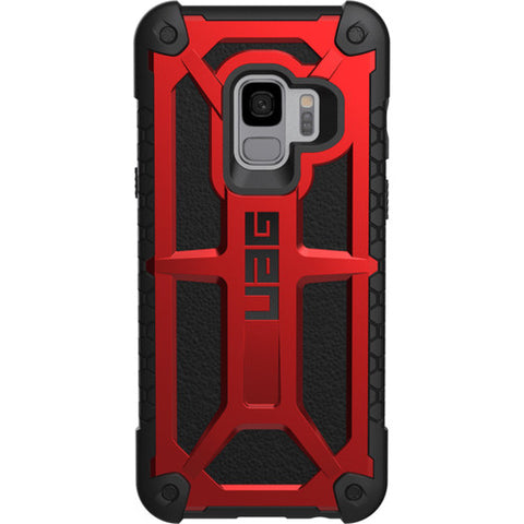 UAG MONARCH HANDCRAFTED LEATHER ALLOY CASE GALAXY S9 - CRIMSON