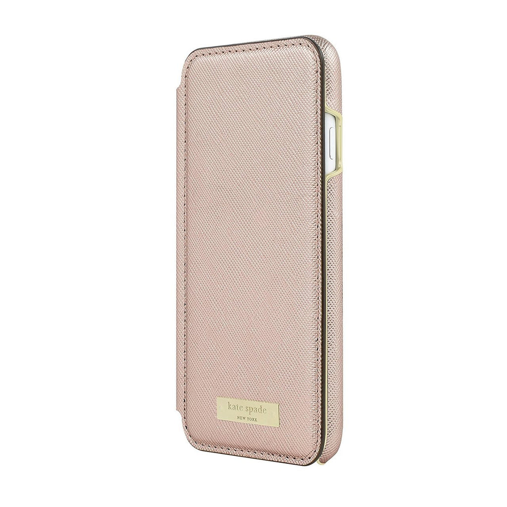 Kate Spade New York Card Folio Case for iPhone 8/7 - Saffiano Rose Gold Australia Stock