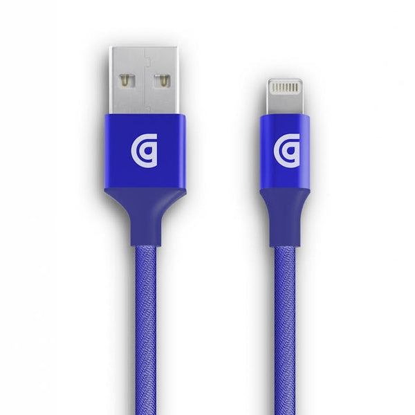 Blue braided lighting cable from griffin for ipad, iphone, ipod Australia stock