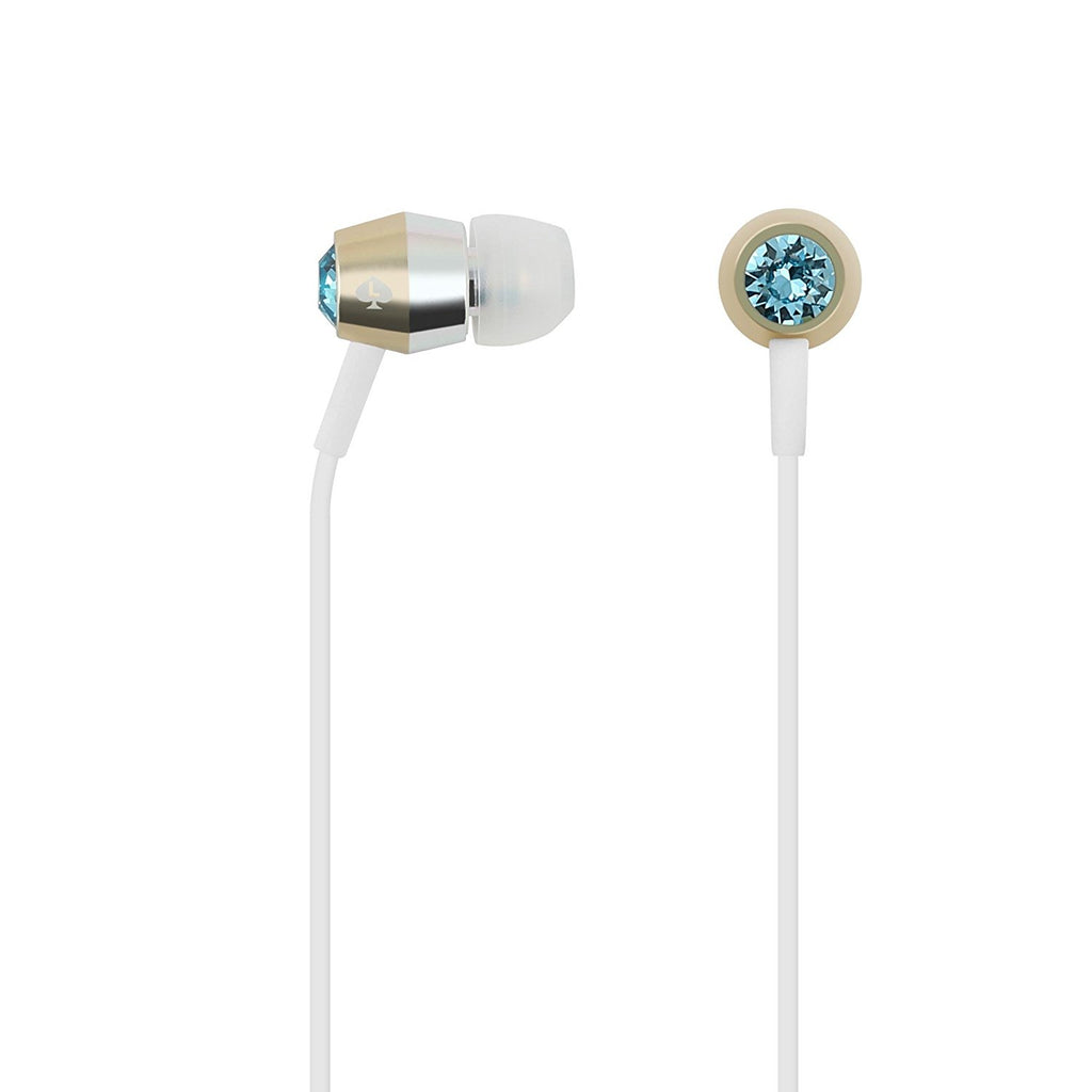 KATE SPADE NEW YORK CRYSTAL EARBUDS - AQUAMARINE/GOLD/SILVER/WHITE Australia Stock