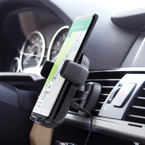 buy qi wireless charging mount holder for samsung & iphone with afterpay payment and free shipping