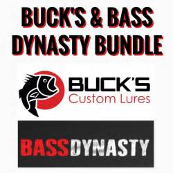 2 Packs of Custom Soft Plastic Lures and Bottle of Bass Dynasty - Buck's Custom Lures