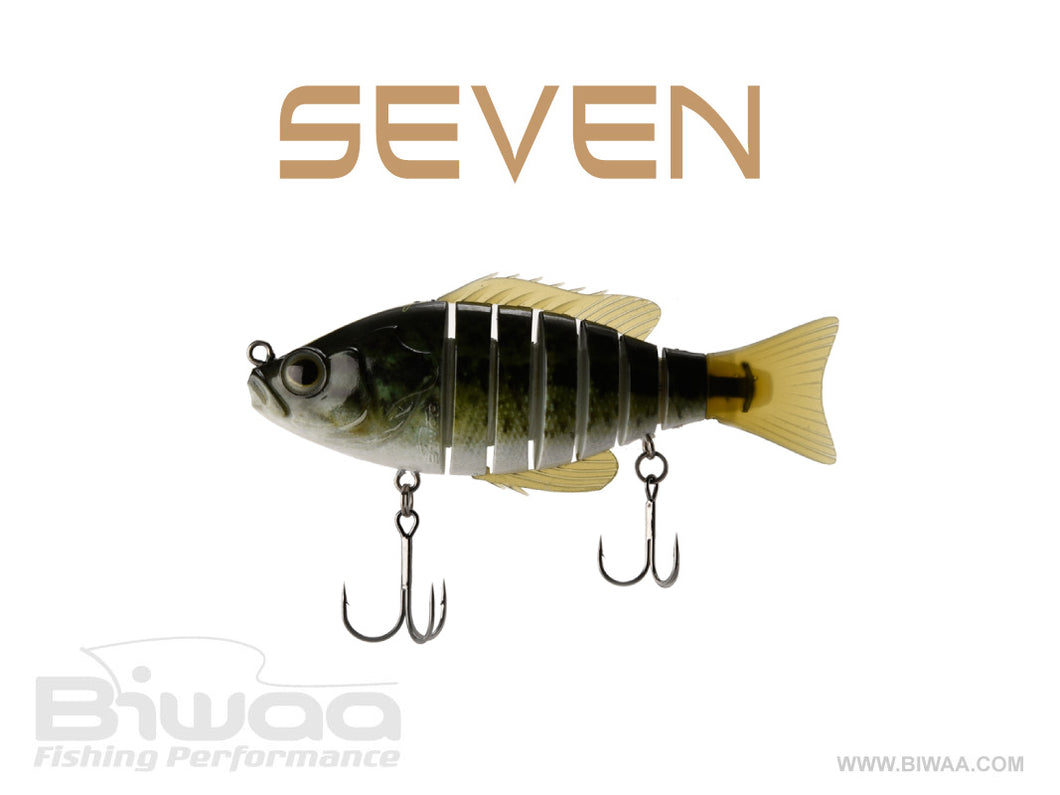 Biwaa  Seven 4 Sinking Swimbait - Real Bass - Buck's Custom Lures