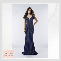 dotique prom chesterfiel derbyshire Tiffany illusion official stockist  blue  prom dress