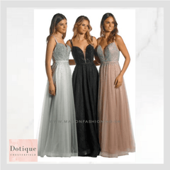 MANON prom dress at dotique ladies boutique in chesterfield. Best dress shop in chesterfield