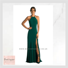 green slim fit prom dress by manon in derbyshire and sheffield