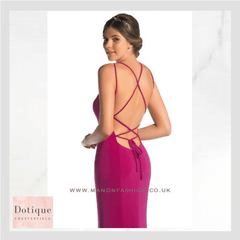 cerise pink prom dress at dotique chesterfield uk