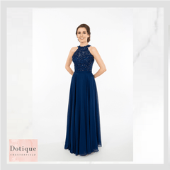 Dotique prom dresses chesterfield navy blue lace and chiffon prom dress prom frocks 9283