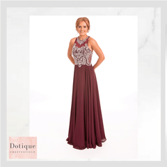 9262 PROM FROCKS DOTIQUE PROM DRESS STOCKIST  RED BERRY MAROON BURGUNDY DRESSBEADED AND CHIFFON LONG DRESS