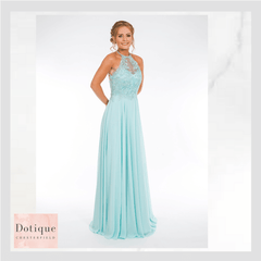 aqua blue chiffon prom dress prom frocks pf9405