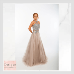 amazing prom dress blush pink with silver