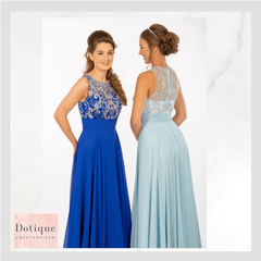 pf9647 stunning cobalt blue and aqua prom dress