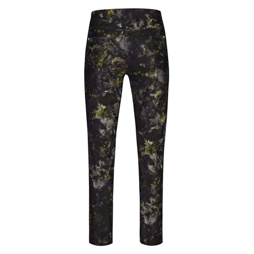 51673 Olive Floral Rose Trousers 78cm