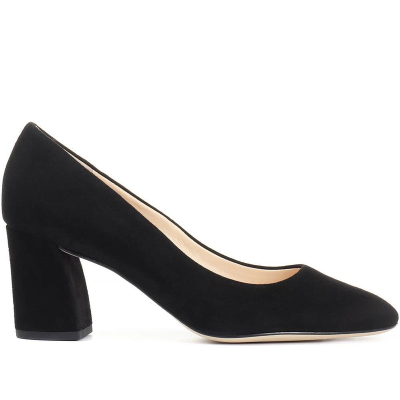 Hogl 5004 Black Block Heel Shoe 5004 side