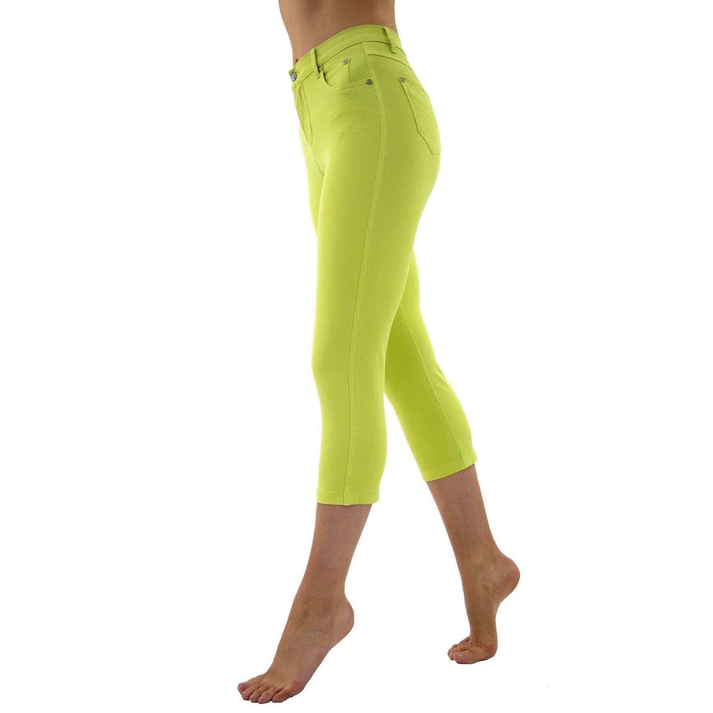 Lime High Waisted Crop Jeans