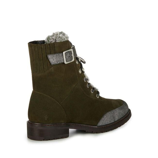 EMU W12049 Waldron Waterproof Dark Olive Boot back