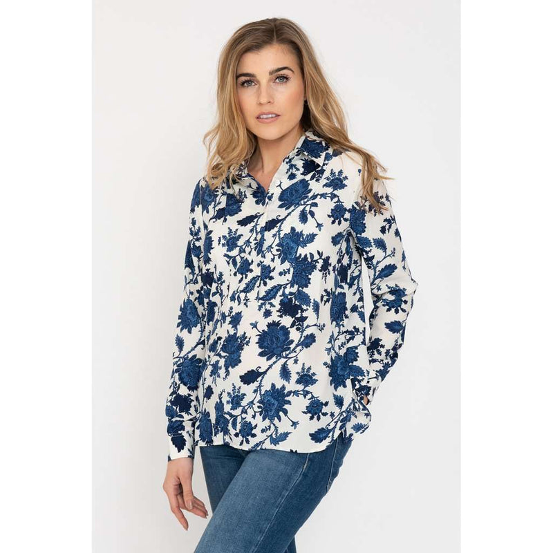 AH54 Blue and Cream Soho Shirt