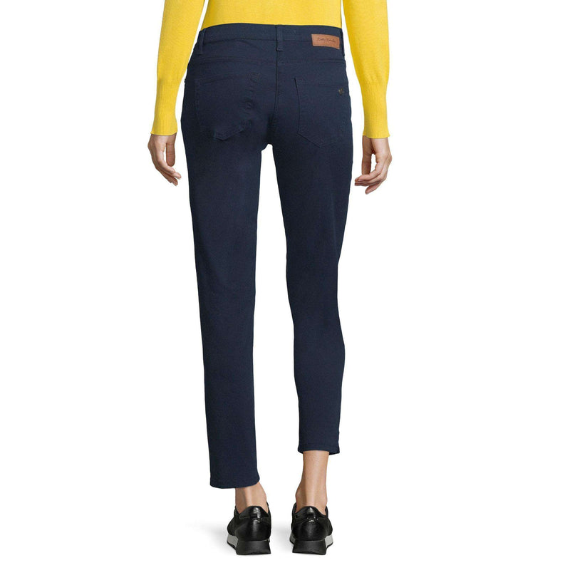 Dark Blue Mid Rise Stretch Jeans