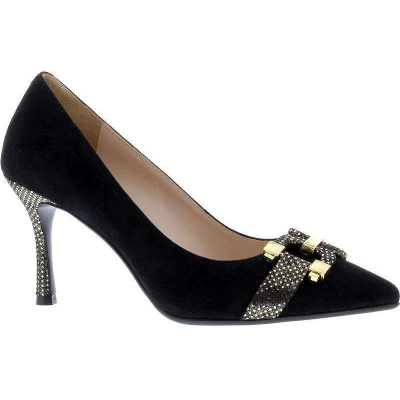 Capollini J580 Rhea Black/Gold Court