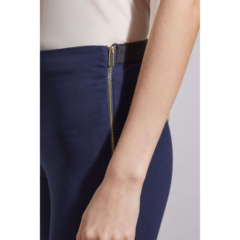 French Connection Kara Twill Skinny Trouser - Navy zip