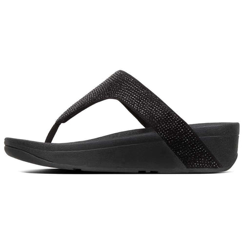 Lottie Black Shimmer Fitflop