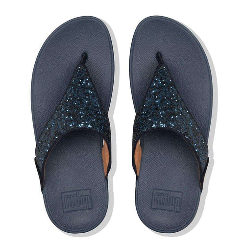 Lulu Glitter Toe-Thongs Midnight Navy