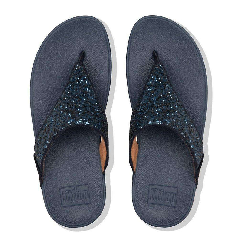 FitFlop Lulu Glitter Toe-Thongs Midnight Navy top