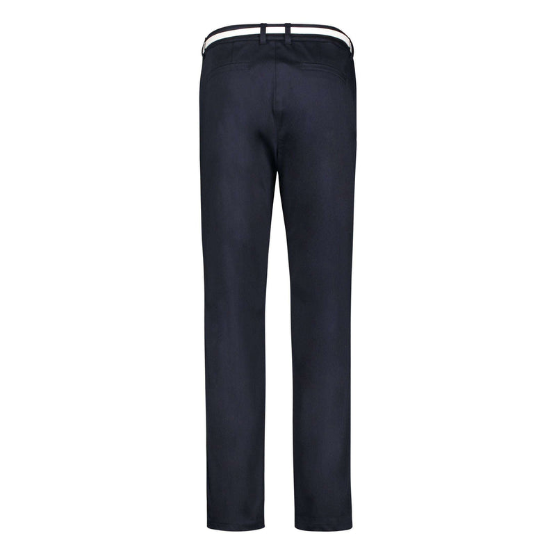 Navy Blue Trousers with White Belt