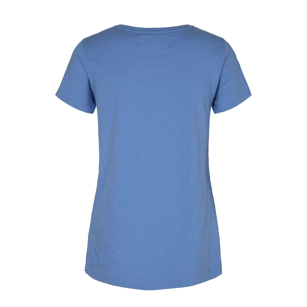 short sleeve v neck cotton tee